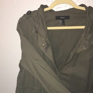 Olive Utility Coat sz L